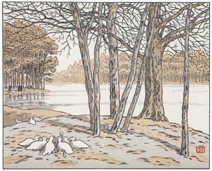 アンリ・リヴィエール – ブローニュの森より (エッフェル塔三十六景より)のサムネイル画像