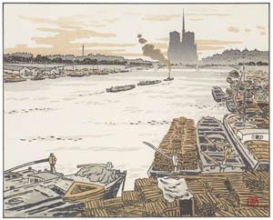 アンリ・リヴィエール – オステルリッツ橋より (エッフェル塔三十六景より)のサムネイル画像