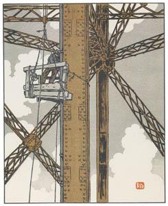 アンリ・リヴィエール – 塔の鉛管工 (エッフェル塔三十六景より)のサムネイル画像
