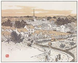 アンリ・リヴィエール – バ・ムードンの駅より (エッフェル塔三十六景より)のサムネイル画像