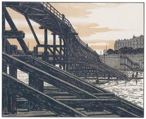 アンリ・リヴィエール – エスタカード橋より (エッフェル塔三十六景より)のサムネイル画像