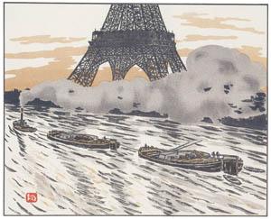 アンリ・リヴィエール – 川船 (エッフェル塔三十六景より)のサムネイル画像