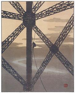 アンリ・リヴィエール – 塔の塗装工 (エッフェル塔三十六景より)のサムネイル画像