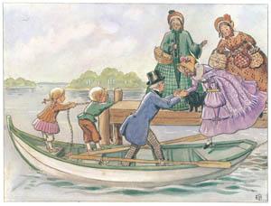 エルサ・ベスコフ – 挿絵2 (あおおじさんのあたらしいボートより)のサムネイル画像
