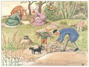 エルサ・ベスコフ – 挿絵3 (あおおじさんのあたらしいボートより)のサムネイル画像