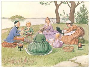 エルサ・ベスコフ – 挿絵5 (あおおじさんのあたらしいボートより)のサムネイル画像