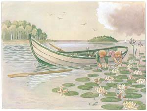 エルサ・ベスコフ – 挿絵6 (あおおじさんのあたらしいボートより)のサムネイル画像