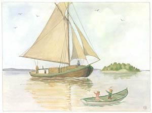エルサ・ベスコフ – 挿絵7 (あおおじさんのあたらしいボートより)のサムネイル画像