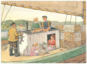 thumbnail Elsa Beskow – Plate 8 [from Uncle Blue's New Boat]