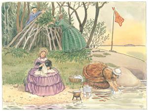 エルサ・ベスコフ – 挿絵9 (あおおじさんのあたらしいボートより)のサムネイル画像