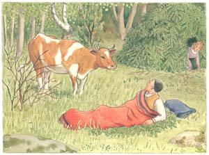 エルサ・ベスコフ – 挿絵10 (あおおじさんのあたらしいボートより)のサムネイル画像