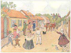 エルサ・ベスコフ – 挿絵12 (あおおじさんのあたらしいボートより)のサムネイル画像