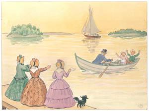 エルサ・ベスコフ – 挿絵16 (あおおじさんのあたらしいボートより)のサムネイル画像