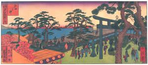 thumbnail Hasegawa Sadanobu (the second) – CELEBRATED PLACES OF KOBE: WADA PROMONTORY [from Scenes of Old Kobe: Reproduced from Woodblock Prints]