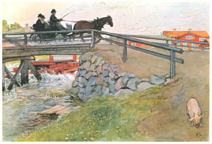 thumbnail Carl Larsson – The Bridge [from Our Home]