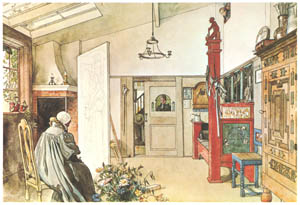 thumbnail Carl Larsson – The Studio [from Our Home]