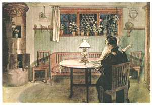 thumbnail Carl Larsson – When the Children have Gone to Bed [from Our Home]