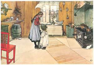 thumbnail Carl Larsson – The Kitchen [from Our Home]