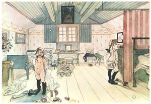 カール・ラーション – ママと小さな女の子の部屋 (Our Homeより)のサムネイル画像
