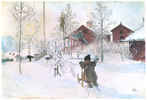 thumbnail Carl Larsson – The Yard and Washhouse [from Our Home]