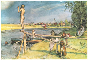 thumbnail Carl Larsson – A Pleasant Bathing-Place [from Our Home]