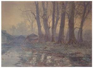 吉田博 – 霧の木立 (近代風景画の巨匠 吉田博展-清新と叙情より)のサムネイル画像