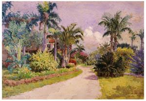 吉田博 – フロリダの熱帯植物 (近代風景画の巨匠 吉田博展-清新と叙情より)のサムネイル画像