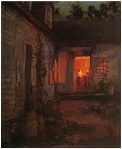 吉田博 – チューリンガムの夜の家 (近代風景画の巨匠 吉田博展-清新と叙情より)のサムネイル画像