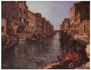吉田博 – ヴェニスの運河 (近代風景画の巨匠 吉田博展-清新と叙情より)のサムネイル画像