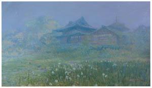 吉田博 – 堀切寺 (近代風景画の巨匠 吉田博展-清新と叙情より)のサムネイル画像