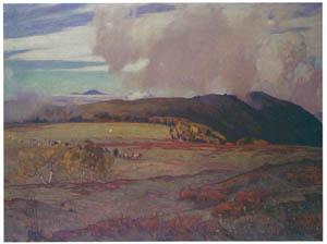 吉田博 – 高原の牧場 (近代風景画の巨匠 吉田博展-清新と叙情より)のサムネイル画像