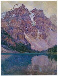 吉田博 – モレーン湖 (近代風景画の巨匠 吉田博展-清新と叙情より)のサムネイル画像