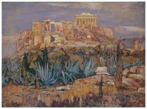 吉田博 – アゼンスの古城 (近代風景画の巨匠 吉田博展-清新と叙情より)のサムネイル画像