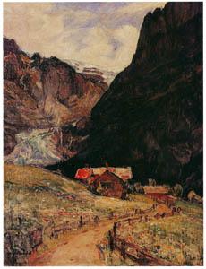 吉田博 – アルプスの山小屋 (近代風景画の巨匠 吉田博展-清新と叙情より)のサムネイル画像