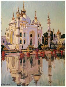 吉田博 – ラクノーのモスク (近代風景画の巨匠 吉田博展-清新と叙情より)のサムネイル画像