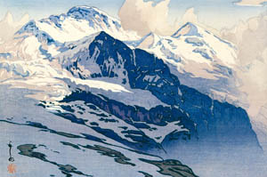 吉田博 – ユングフラウ山 (近代風景画の巨匠 吉田博展-清新と叙情より)のサムネイル画像
