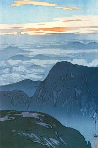 "thumbnail Yoshida Hiroshi – Twelve Scenes of the Japan Alps ""Sunrise of Mt.Eboshidake"" [from Fukuoka Art Museum]"