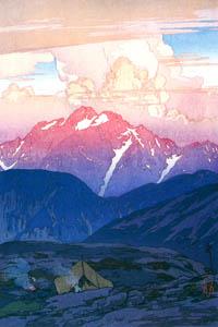 "thumbnail Yoshida Hiroshi – Twelve Scenes of the Japan Alps ""Morning on Mt. Tsurugi"" [from Fukuoka Art Museum]"