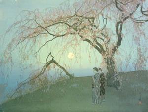 thumbnail Yoshida Hiroshi – Kumoi Cherry Trees [from Fukuoka Art Museum]