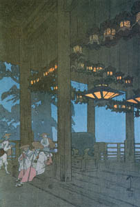吉田博 – 二月堂 (近代風景画の巨匠 吉田博展-清新と叙情より)のサムネイル画像
