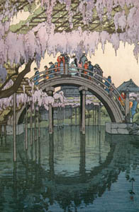 "thumbnail Yoshida Hiroshi – Twelve Scenes of Tokyo ""Bridge of Kameido Shrine"" [from Fukuoka Art Museum]"