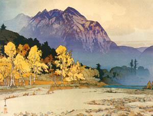 thumbnail Yoshida Hiroshi – Mt. Hotaka after Rain [from Fukuoka Art Museum]