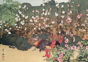 吉田博 – 蜀葵 (近代風景画の巨匠 吉田博展-清新と叙情より)のサムネイル画像