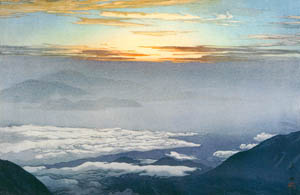 thumbnail Yoshida Hiroshi – Sea of Clouds at Mt. Houozan [from Fukuoka Art Museum]