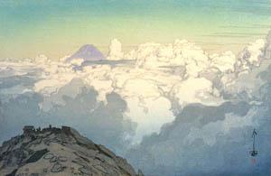 "thumbnail Yoshida Hiroshi – The Southern Japan Apis Series ""From the Summit of Mt. Komagatake"" [from Fukuoka Art Museum]"
