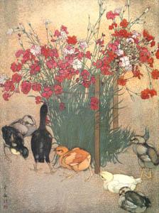 吉田博 – ひよこ (近代風景画の巨匠 吉田博展-清新と叙情より)のサムネイル画像