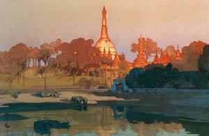 吉田博 – ラングーンの金塔 (近代風景画の巨匠 吉田博展-清新と叙情より)のサムネイル画像