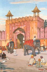 吉田博 – ジャイプールのアジュメル門 (近代風景画の巨匠 吉田博展-清新と叙情より)のサムネイル画像