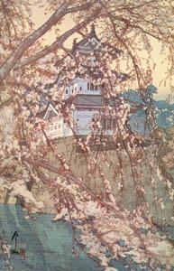 吉田博 – 櫻八題 弘前城 (近代風景画の巨匠 吉田博展-清新と叙情より)のサムネイル画像