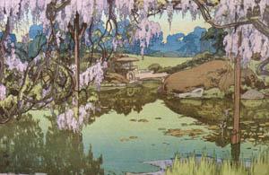 吉田博 – 藤之庭 (近代風景画の巨匠 吉田博展-清新と叙情より)のサムネイル画像